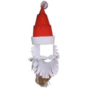 Борода Деда мороза из бумаги