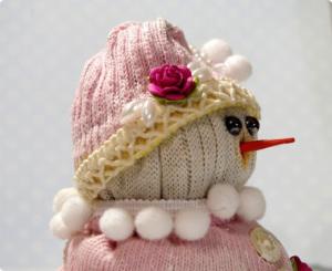 Снеговик из старого носка