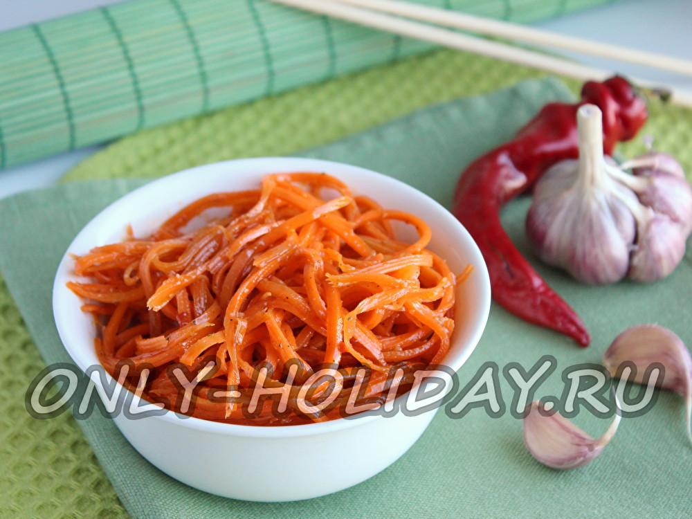 Домашняя морковь по-корейски