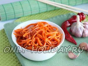 Фото рецепт моркови по-корейски
