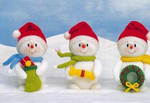 снеговик из носка с руками и ногами