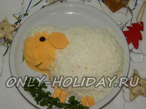 Новогодний салат «Овечка»: рецепт с фото