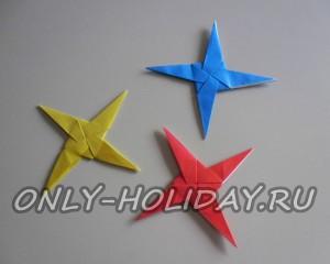 Объемная новогодняя звезда из бумаги своими руками (оригами)