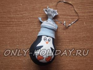 Пингвин из лампочки своими руками: фото мастер-класс