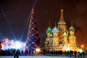 Праздничные елки в Москве 2015