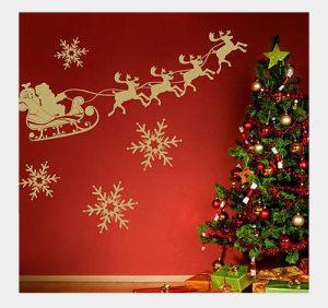 Украшение комнаты на Новый год