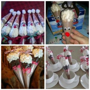 изготовление конусов со сладостями