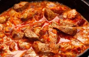 Рецепт гуляша из говядины