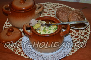 горшочки с мясом и картофелем и грибами в духовке рецепт