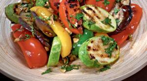 Салат с запечеными овощами