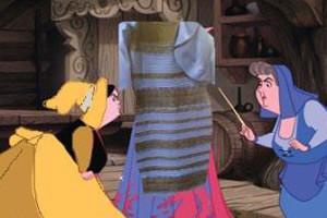 Какого цвета платье: синее или белое
