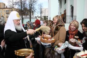 Освящение куличей и яиц