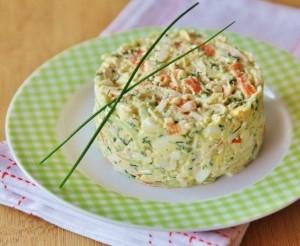 рецепты вкусного салата с кальмарами
