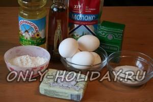ингредиенты для бисквитного торта с кремом
