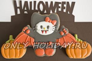 Печенье к Хэллоуину «Китти-вампир»