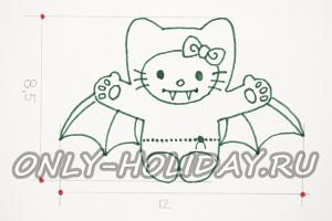 Рисуем эскиз печенья на Хэллоуин