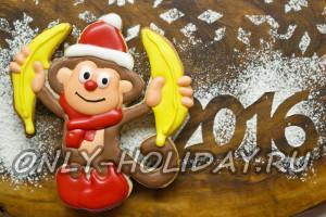 """Печенье """"Обезьянка с бананами"""" на Новый год"""