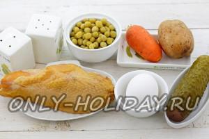 Ингредиенты для салата Елка