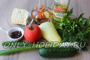 Ингредиенты для шопского салата