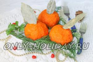 Закуска «Мандарины» , рецепт с фото