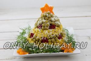 Новогодний салат «Нарядная елка»