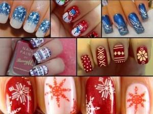 Новогодний дизайн ногтей, фото, новинки 2017 зима