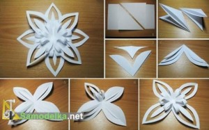 Объёмные снежинки из бумаги своими руками, схемы, как делать