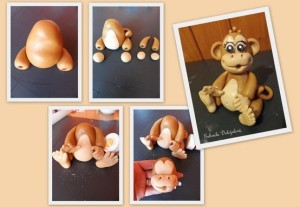 обезьянка из пластилина