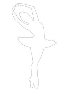 трафарет балерины