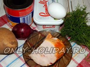Ингредиенты для салата Искушение