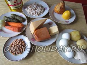 Ингредиенты для салата Обезьянка