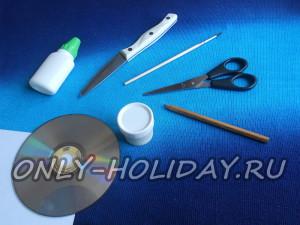 материалы и инструменты для игрушки на елку