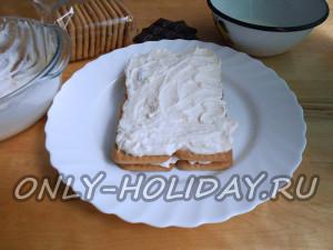 Повторить слои для торта без выпечки