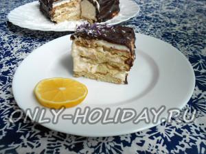 Как приготовить торт без выпечки из печенья с творогом