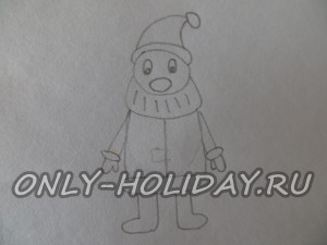 Простым карандашом рисуем фигуру, как показано на картинке.