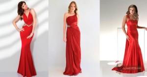 красные платья для встречи нового года 2016