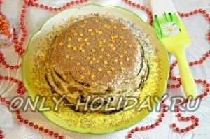 Торт из пряников с бананами и сметаной: фото и рецепт