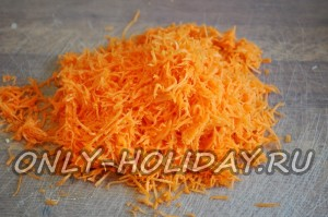 морковь натереть на мелкой терке