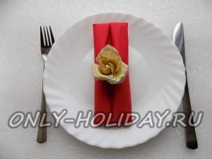 Салфетка для сервировки праздничного стола  в виде конверта