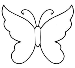 Трафарет бабочки для вырезания