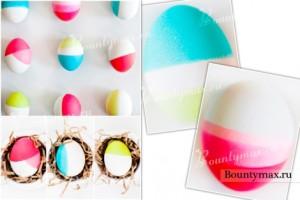 неоднотонные пасхальные яйца