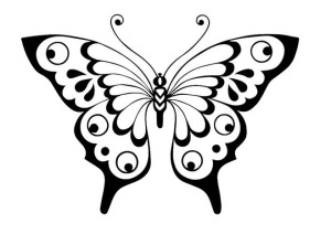 шаблон бабочки для вырезания из бумаги