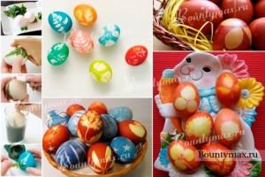 яйца с растительным рисунком