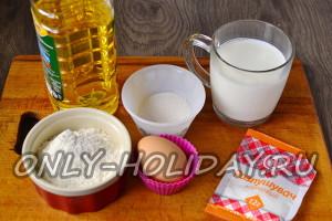 Ингредиенты для ажурных блинчиков