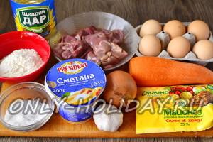Ингредиенты для печеночного торта