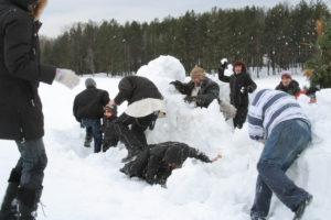 Штурм снежной крепости