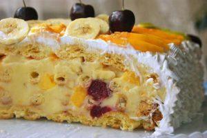 Торт «Тропиканка» с заварным тестом, рецепт