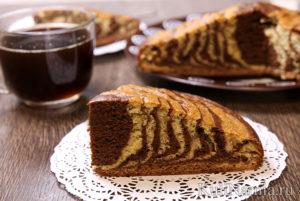 "Торт ""Зебра"", рецепт с фото пошагово"