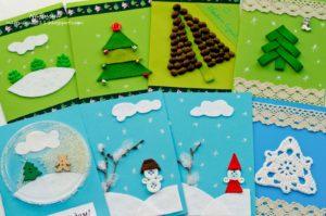 Новогодняя открытка своими руками на конкурс в школу
