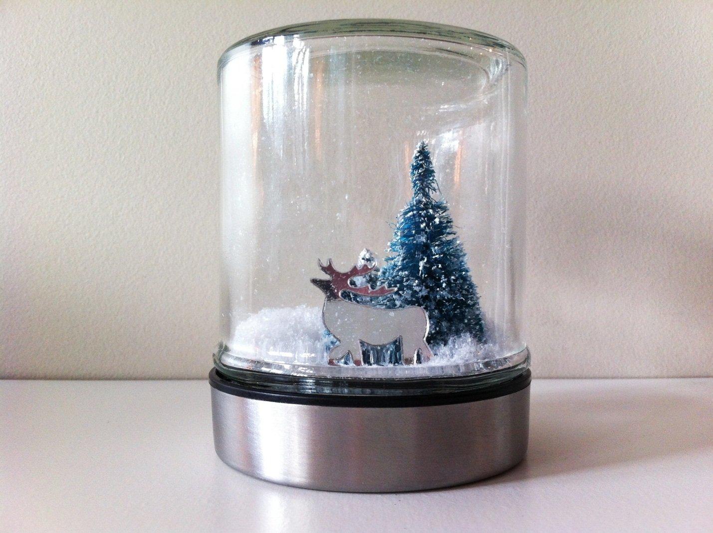 Как сделать снежный шар из банки своими руками в домашних условиях